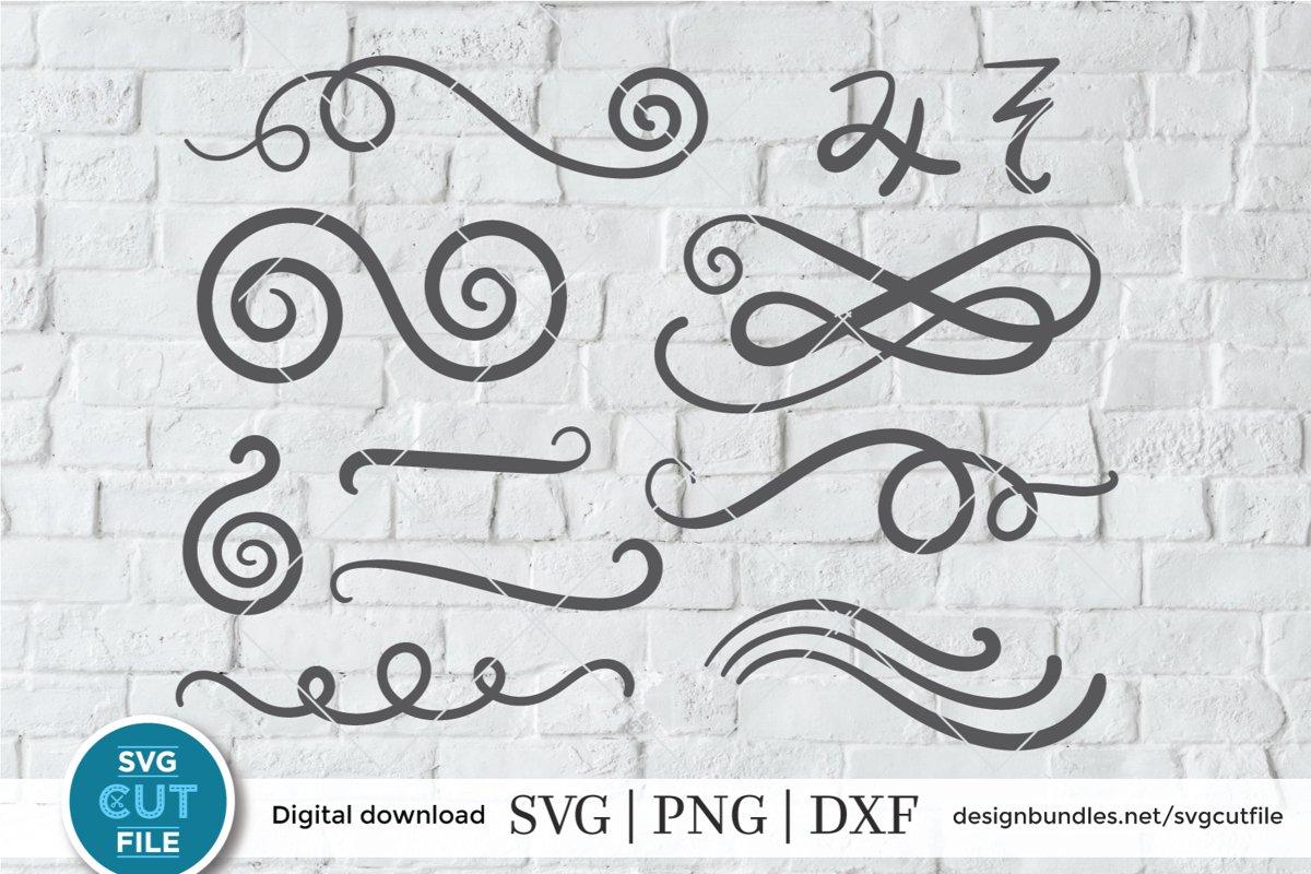 Swoosh SVG, Scrolls SVG, Swirl SVG, Flourish SVG (258638