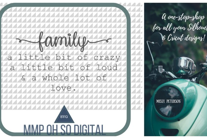 Download Family Quote SVG, a little bit of crazy SVG, a little bit ...