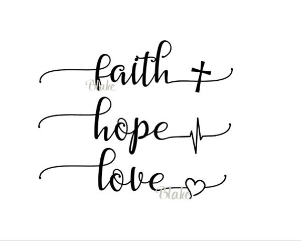 Download Faith Hope Love svg CUT file for silhouette cameo cricut ...
