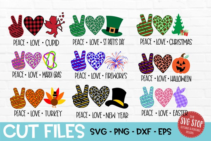 Download Peace Love Bundle SVG, PNG, DXF, EPS (409622)   SVGs ...