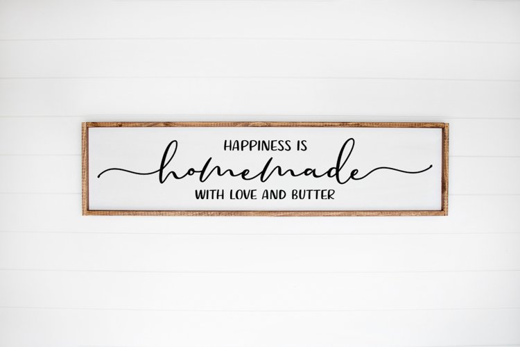 Download Kitchen Farmhouse Sign SVG - Happiness Is Homemade With ...