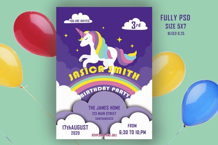 unicorn birthday invitation card 844633 card and invites design bundles