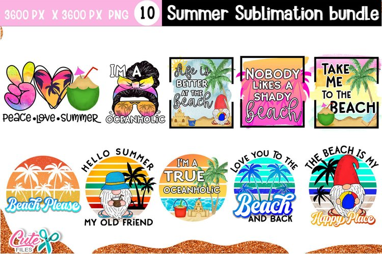 Summer sublimation quote bundle