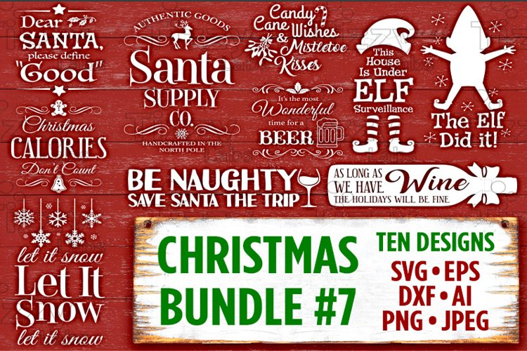If you are struggling with using those svg files on your pc, this video is for you! Christmas Bundle 7 Svg Files Svg Files For Cricut Christmas Svg Files For Silhouette Christmas Christmas Svg Bundle Holiday Svg Files 507 92575 Svgs Design Bundles