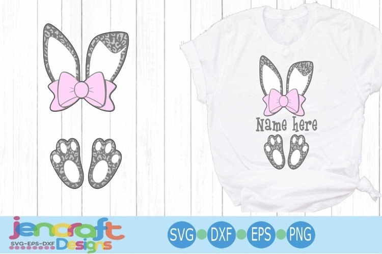 Download Leapord Print Bow Cut And Print Svg - Layered SVG Cut File ...