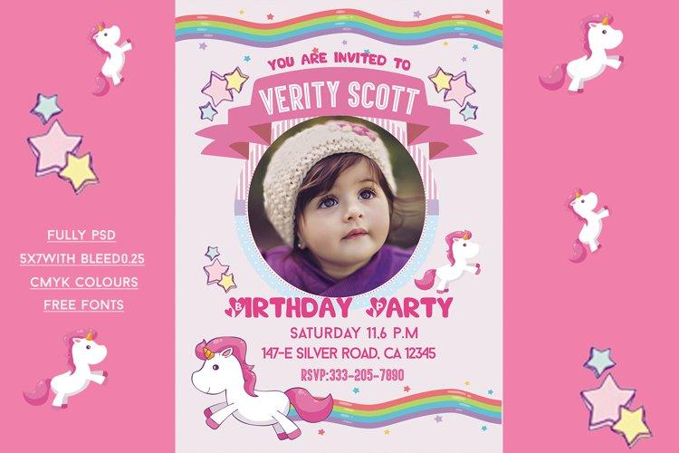unicorn birthday invitation card 766204 card and invites design bundles