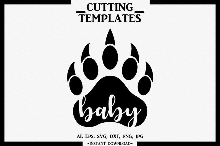 Baby Bear, Silhouette, Cricut, Cut File, AI, EPS, SVG, DXF