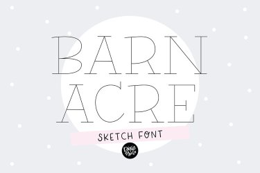"""""""BARN ACRE"""" Sketch Font - Single Line/Hairline Font example image 1"""