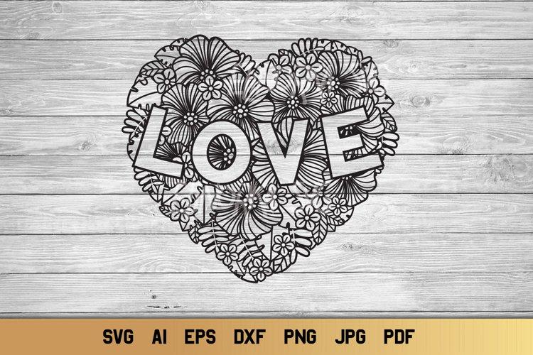 Download Heart SVG   Zentangle Floral Heart   Flower SVG   Love SVG ...