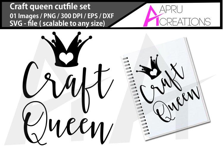 Craft Queen Svg Craft Queen Silhouette 321497 Cut Files Design Bundles