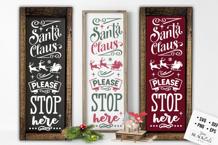 Each week you can pick a number of free svg designs from our website. Christmas Porch Sign Svg Long Sign Santa Svg 924759 Cut Files Design Bundles