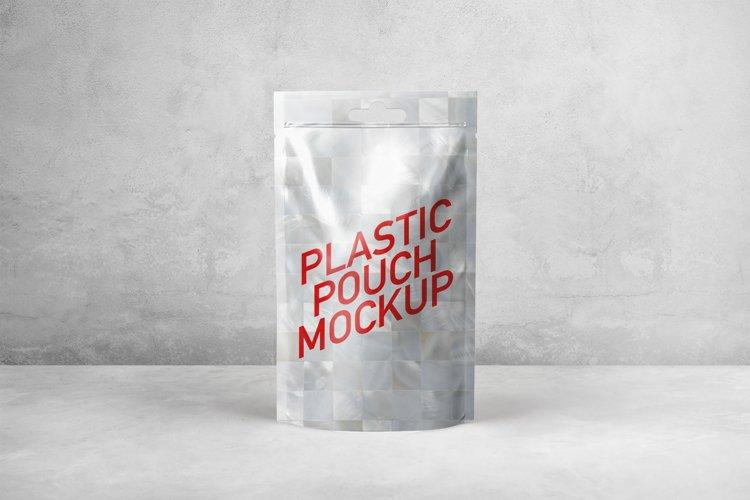 Available in 2 backgrounds (grey & Plastic Pouch Mockup 148459 Mockups Design Bundles