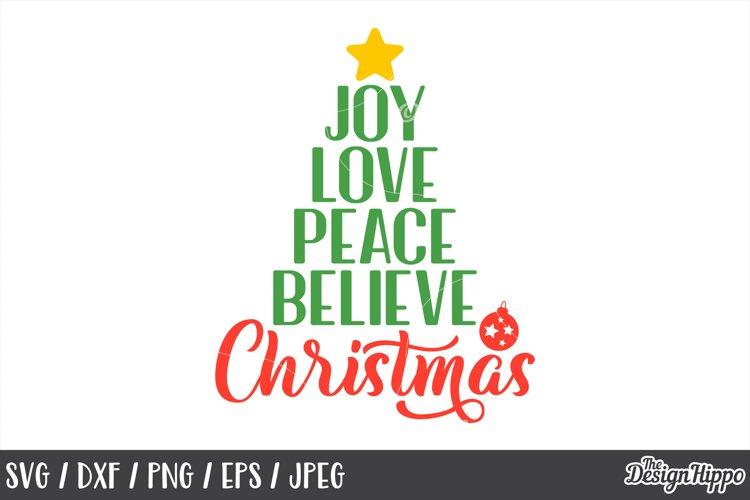 Download Joy Love Peace Believe Christmas, Bauble, SVG, PNG, DXF ...