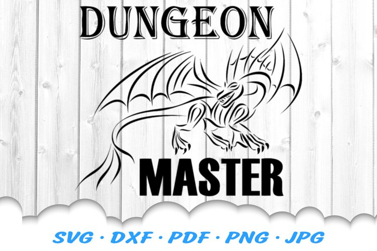 Dungeon Master Dragon SVG DXF Cut Files (414257