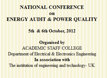 NCEAPQ 12 - National Conf. on Energy Audit & Power Quality in Tamilnadu