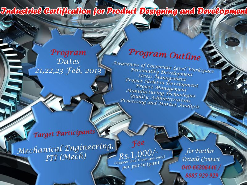 3 Days Industrial Certification Programme for Mechanical Engineers in Hyderabad
