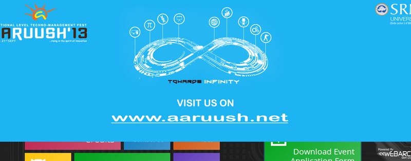 Aaruush 2013 - Natonal Level Techno Management Fest in SRM University from September 18-21, 2013
