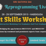 Soft Skills Workshop for Grads and Post Grads in Hyderabad from September 28-29, 2013