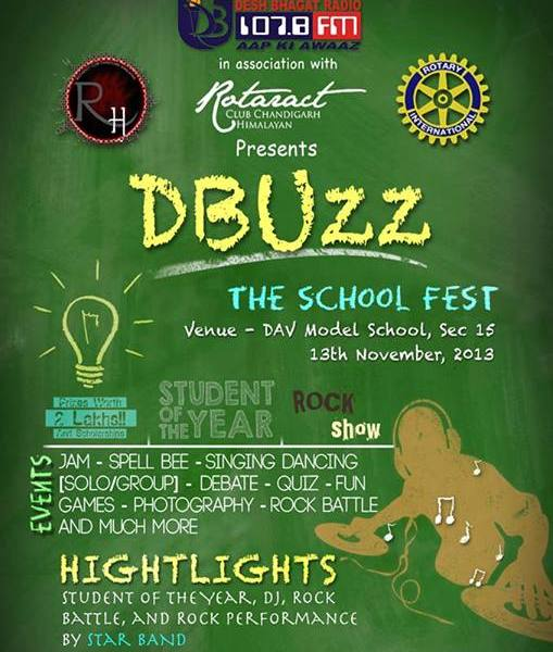 DBuzz - The School Fest in Chandigarh on November 13, 2013