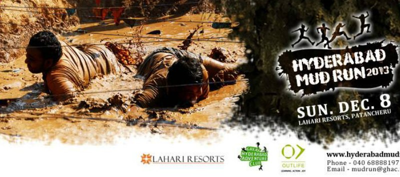 Hyderabad Mud Run 2013 in Lahari Resorts on December 8, 2013