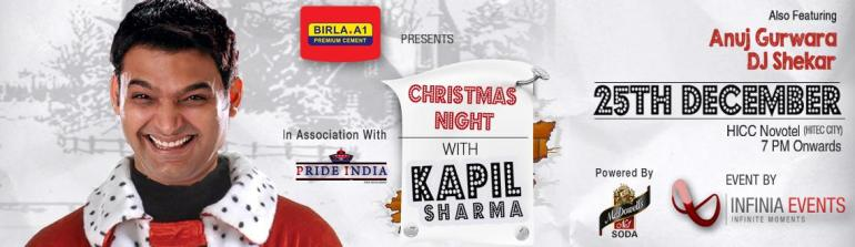 Christmas Night With Kapil Sharma in Hyderabad on December 25, 2013