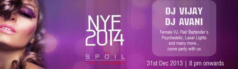 NYE 2014 at Spoil, The Lounge in Hyderabad on December 31, 2013