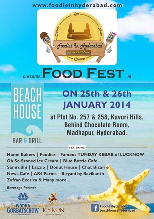 Food Fest in Hyderabad n January 25 and 26, 2014