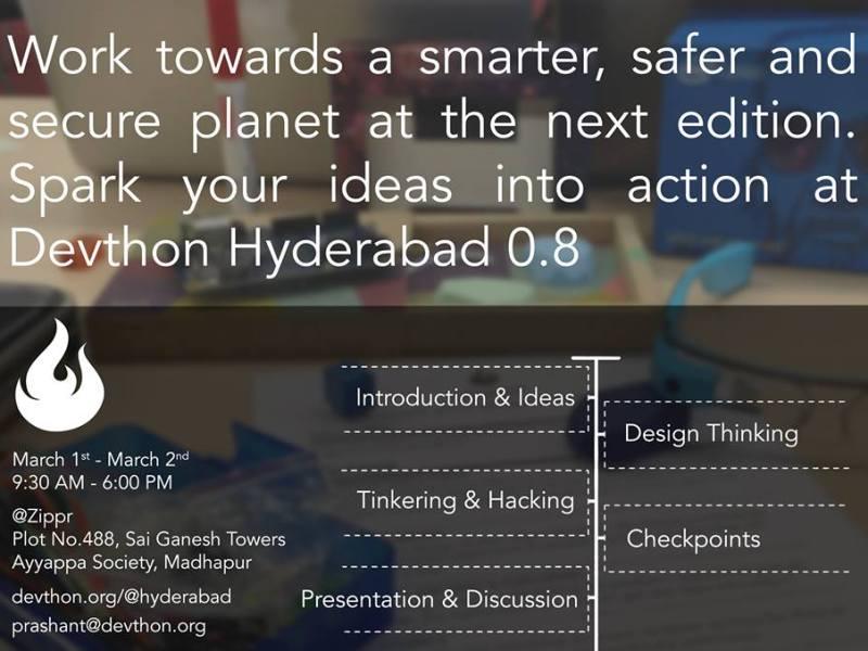 Devthon Hyderabad 0.8 - Creating Smarter Planet on March 1-2, 2014