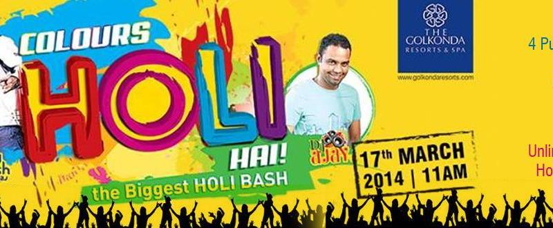 Colours Holi Hai 2014 at Golkonda Resorts in Hyderabad on March 17, 2014