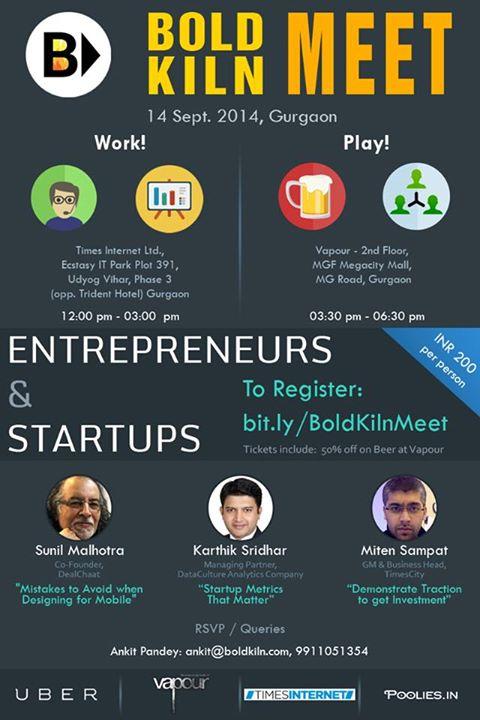 Bold Kiln Meet in Gurgaon on September 14, 2014