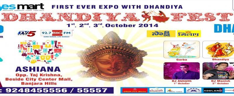 Dhandiya Fest 2014 in Hyderabad from October 1-3, 2014