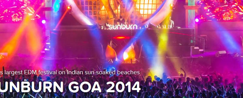 Sunburn Goa 2014 from December 27-29, 2014