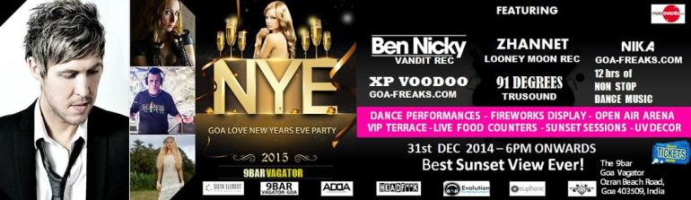 Goa Love New Years Eve Party in Goa on December 31, 2014