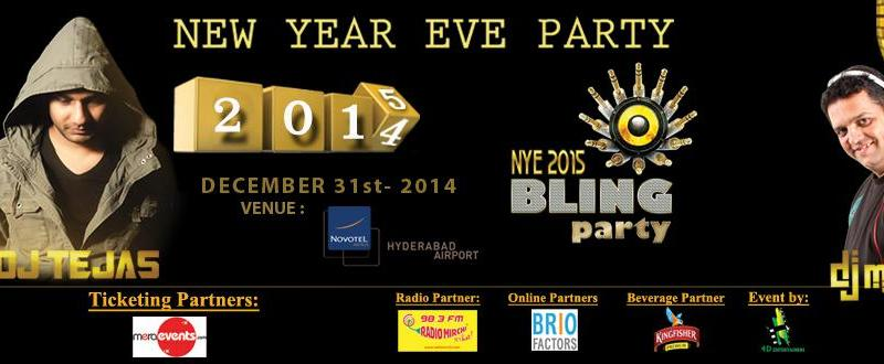 NYE 2015 Bling Party in Hyderabad on December 31, 2014