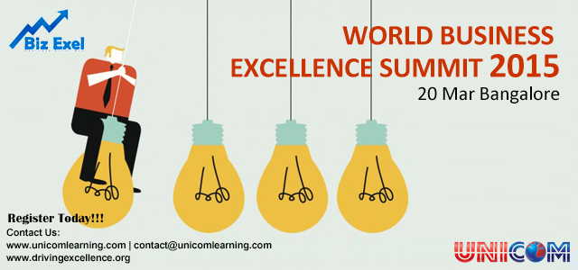 World Business Excellence Summit in Bangalore on March 20, 2015