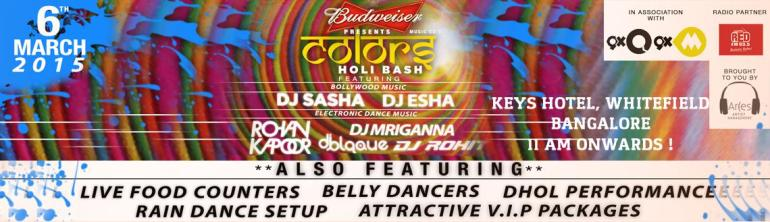 Colors Holi Bash - 2015 in Bangalore on March 6, 2015