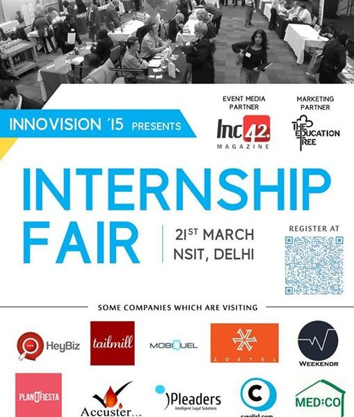 Internship Fair 2015 in New Delhi on March 21, 2015