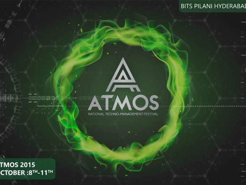 BITS Atmos 2015 - Techno-Management Festival in BITS Hyderabad from October 8-11, 2015