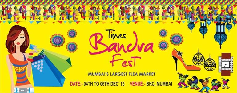 Times Bandra Fest - Flea Market from December 4-6, 2015