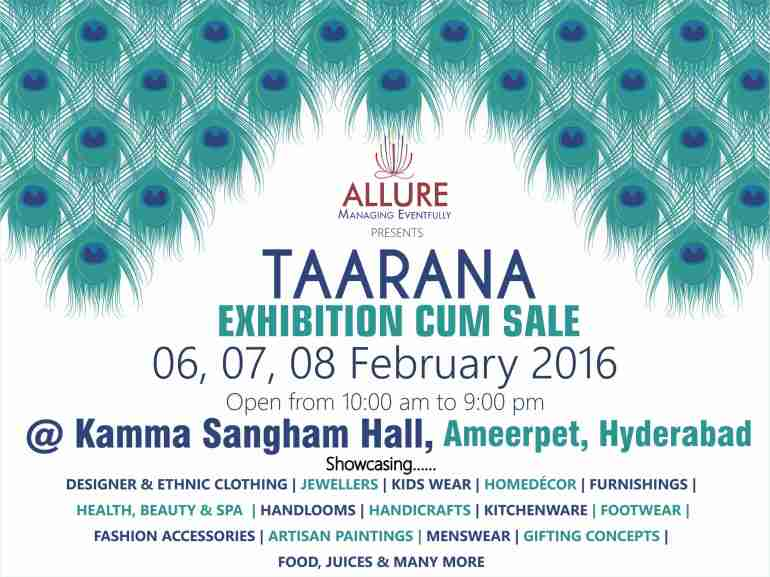 Taarana 2016 - Fashion & Lifestyle Expo & Sale in Hyderabad from February 6-8, 2016