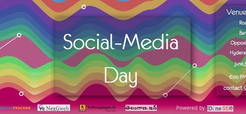 Social Media Day in Hyderabad on June 30, 2016