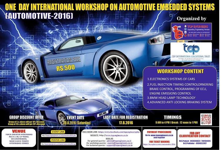 Automotive 2016 - International Workshop in Secunderabad on August 20, 2016