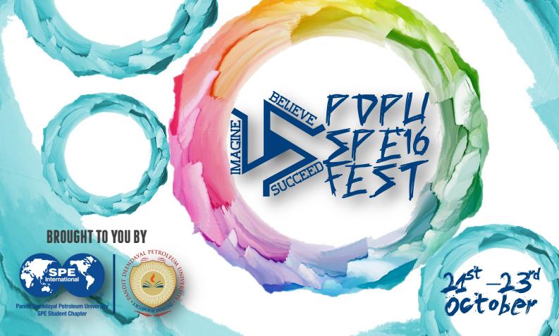 PDPU SPE Fest 2016 - International Tech Fest in Gujarat from August 21-23, 2016