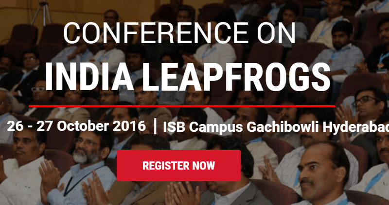 TiE - ISB Connect 2016 in at ISB, Hyderabad from October 26-27, 2016