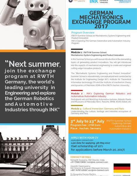 German Mechatronics Exchange Program 2017