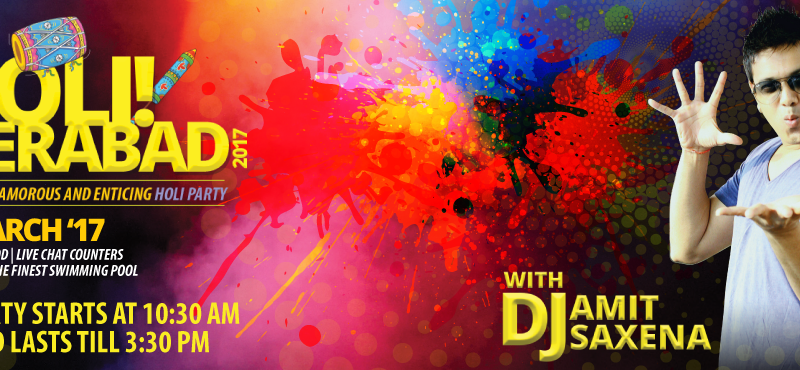 Holi Hyderabad 2017 at Aqua The Park in Hyderabad on March 13, 2017