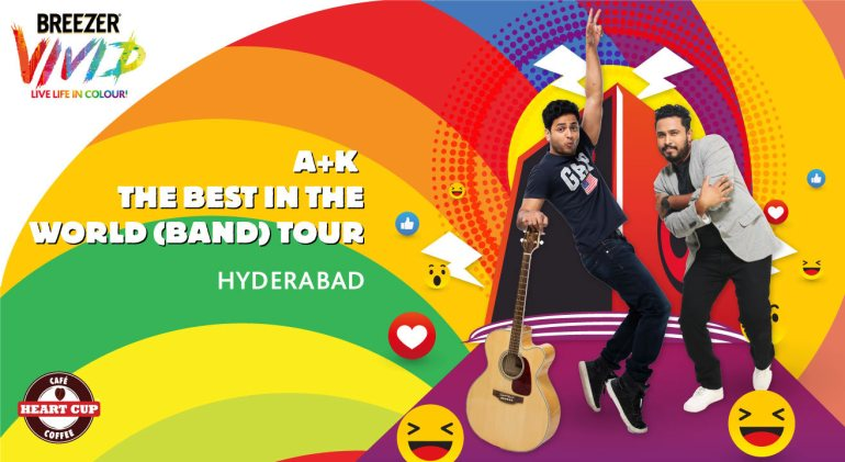 Breezer Vivid A+K The Best in the World (Band) Tour in Hyderabad on April 27, 2017