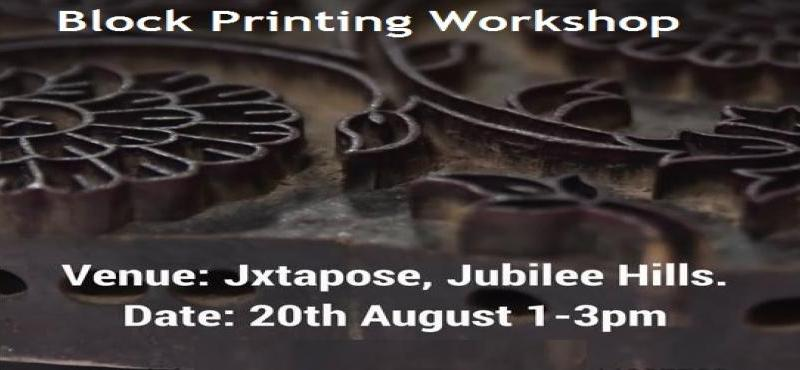 BlockPrinting Workshop in Hyderabad on August 20, 2017