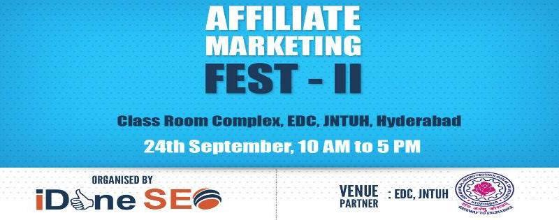 Affiliate Marketing Fest in Hyderabad on September 24, 2017