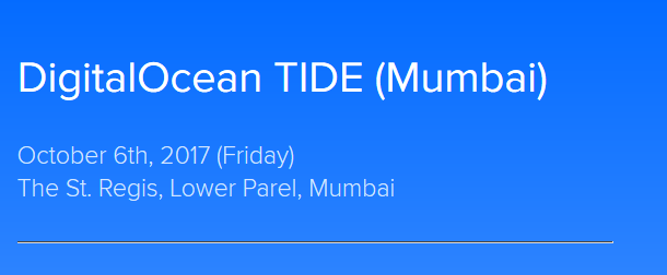 DigitalOcean TIDE in Mumbai on October 6, 2017